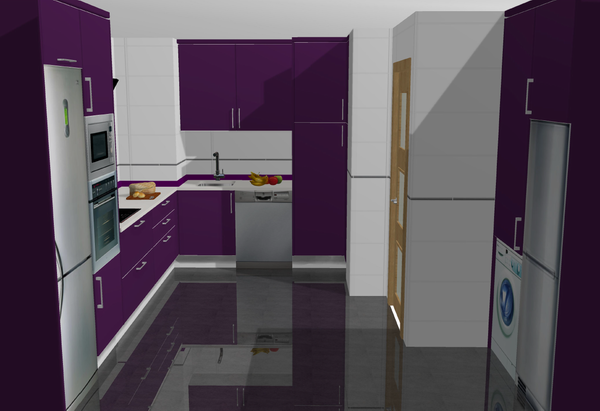 Galer a de cocinas montadas cocina estudio - Muebles de cocina en leganes ...