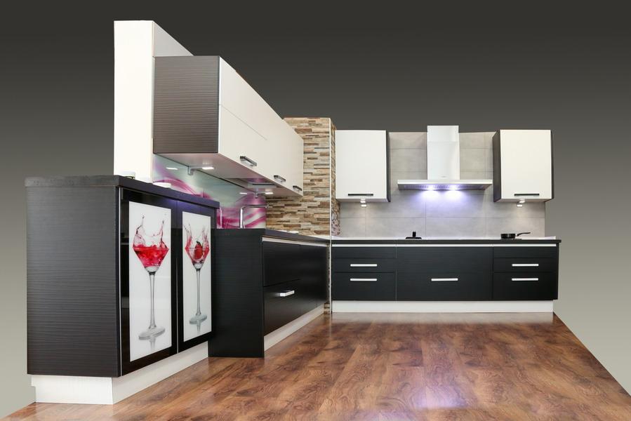 Mueble de cocina blanco y negro cocina estudio - Muebles blanco y negro ...