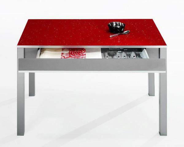 Mesa roja | Cocina estudio