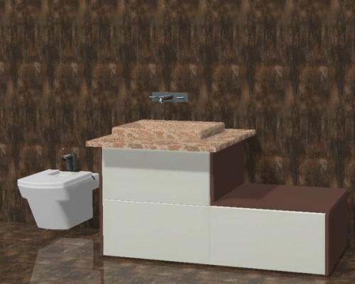Mueble de baño 3 gavetas