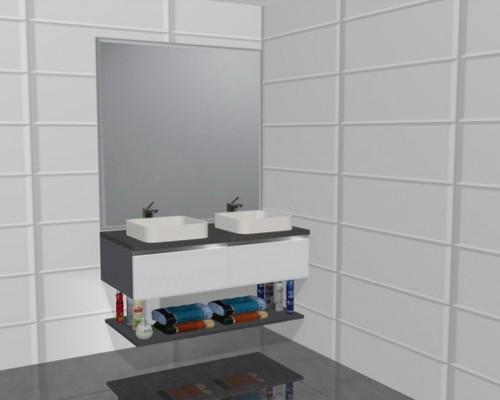 Dos lavabos sobreencimera